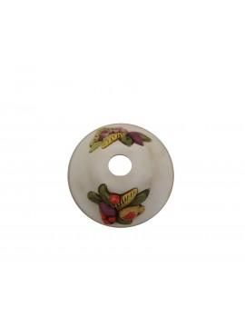 Applique classico in ferro battuto e ceramica frutta 1 luce coll. Vera