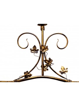 Classic barbell wrought iron and sunflower ceramic 2 lights coll. Mary cer