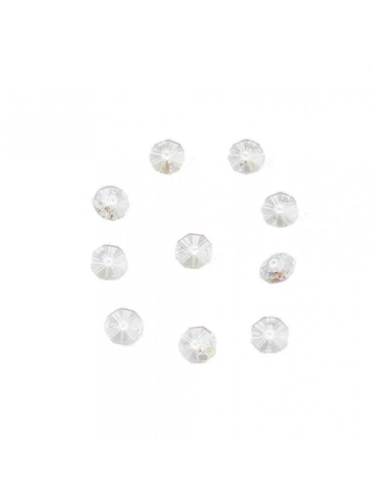 10pz Ottagono Cristallo Trasparente