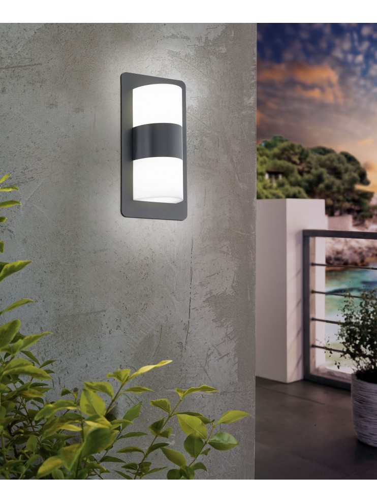 Anthracite Modern Outdoor Wall Light 2 Lights Glo 98086 Cistierna