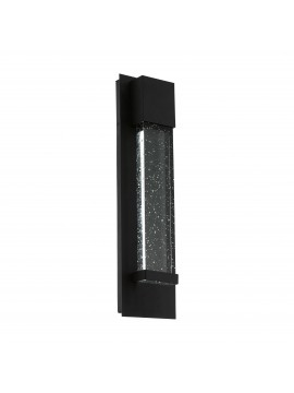 Modern design black LED outdoor wall light GLO 98153 Villagrazia