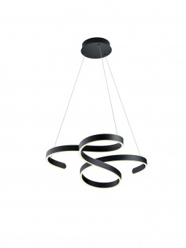 Modern design black LED chandelier trio 371310142 Francis