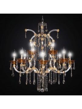 Classic swarovsky design crystal chandelier 12 lights BGA 1803-8-4 gold