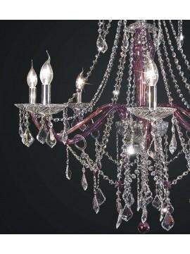 Swarovsky design purple crystal chandelier 8 lights BGA 1804-8