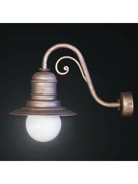 Classic rustic wall lamp in wrought iron lampara 1 light BGA 1806-A