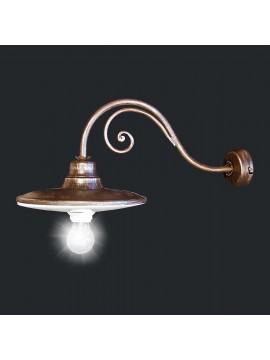 Applique classico rustico in ferro battuto 1 luce BGA 1807-A