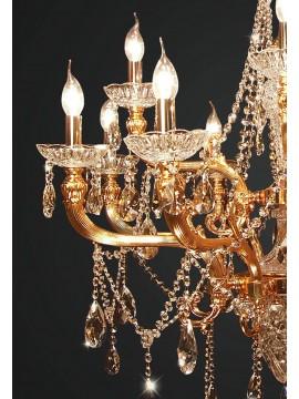 Classic brass and swarovsky crystal chandelier 12 lights BGA 1886-8-4