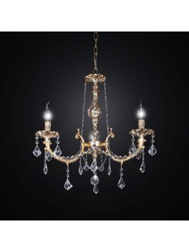 Classic brass and swarovsky crystal chandelier 3 lights BGA 1888-3