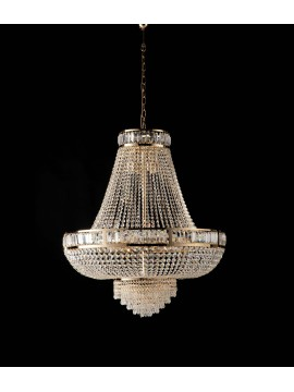 Classic gold chandelier with 8 lights crystals LGT Strass d.55 swarovsky design