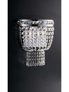 Applique moderno cromato con cristalli 2 luci LGT Mercurio ap2 design swarovsky