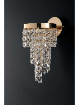 Applique classico oro con cristalli 1 luce LGT Malta ap1 design swarovsky