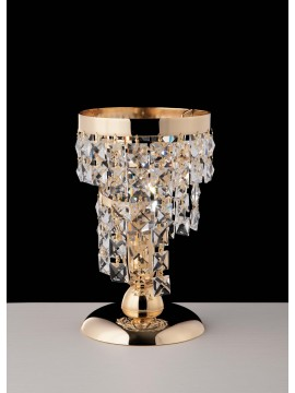 Classic gold table lamp with 1 light crystals LGT Malta lp1 swarovsky design