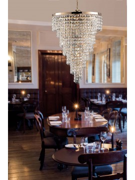 Classic gold chandelier with 6 lights crystals LGT Malta sp6 d.50 swarovsky design