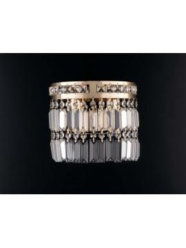 Applique classico oro con cristalli 2 luci LGT Istanbul ap2 design swarovsky