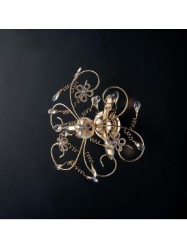 Plafoniera classica oro con cristalli 3 luci LGT Alfiere design swarovsky