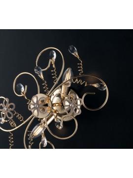 Plafoniera classica oro con cristalli 2 luci LGT Alfiere design swarovsky