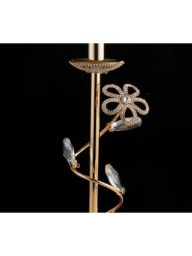Lumetto classico oro con cristalli 1 luce LGT Alfiere 01 design swarovsky