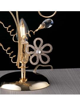 Lumetto classico oro con cristalli 1 luce LGT Alfiere 02 design swarovsky