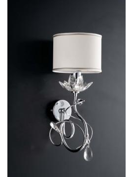 Modern wall light with 1 light LGT kos chromed crystals swarovsky design