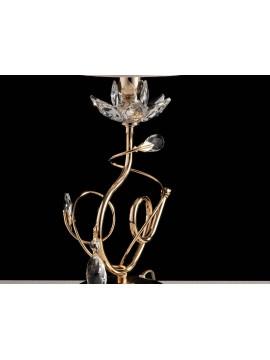 Lumetto classico oro con cristalli 1 luce LGT kos oro design swarovsky