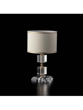 Lumetto contemporaneo cristallo 1 luce LGT Lumiere tondo design swarovsky