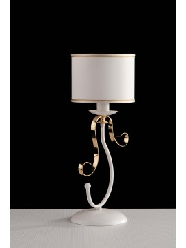 Contemporary table lamp with 1 light LGT Alina white and gold