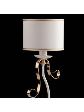 Lumetto contemporaneo a 1 luce LGT Alina bianco e oro