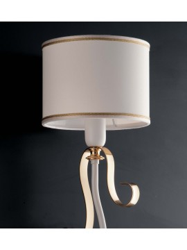 Contemporary 1-light wall light LGT Alina white and gold