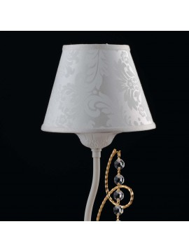 Contemporary table lamp with 1 light LGT Charlotte white and gold