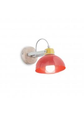 Applique moderno per cameretta bambini colorato a 1 luci Titti ap1 rosso