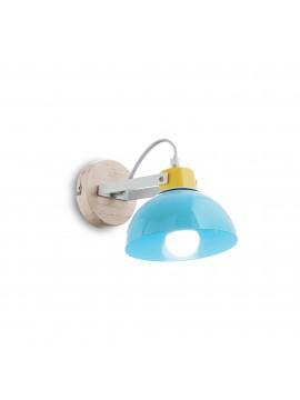 Applique moderno per cameretta bambini colorato a 1 luci Titti ap1 azzurro