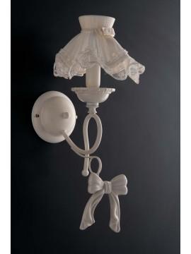 LGT Megan 1 light shabby chic classic porcelain wall light