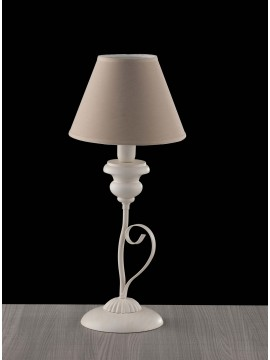 Contemporary shabby chic table lamp in wood 1 light LGT Giselle