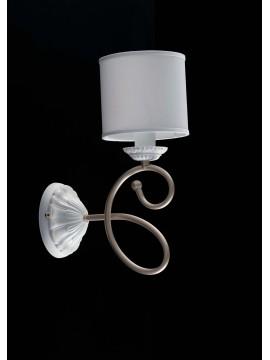 Applique contemporaneo moderno 1 luce LGT Aurora bianco-oro