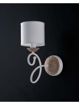 Applique contemporaneo moderno 1 luce LGT Aurora bianco-tortora