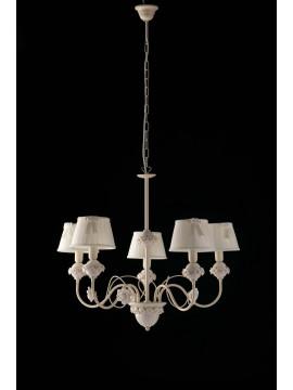 Lampadario contemporaneo classico porcellana 5 luci LGT Giulia