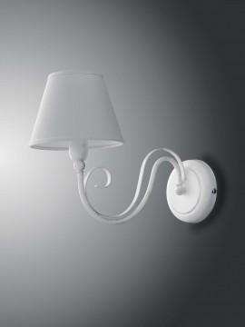 Applique contemporaneo classico 1 luce LGT Agata bianco