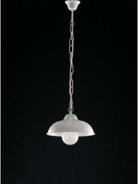 Lampadario in ferro battuto bianco shabby chic 1 luce LGT Dome