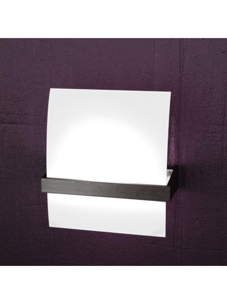 Applique 1 luce moderno cromato e legno wengè tpl1019-amw
