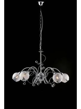 Modern chrome chandelier with 5 lights LGT Katarina crystals