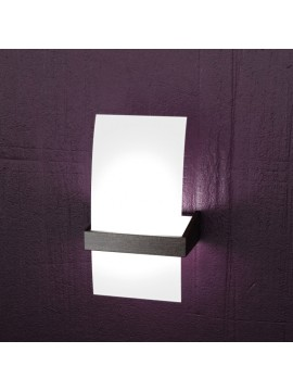 Applique 1 luce moderno cromato e legno wengè tpl1019-apw
