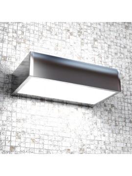 Applique 1 luce moderno cromato lucido con vetro tpl1053-am