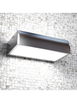 Wall lamp 1 light modern polished chrome with tpl glass 1053-am