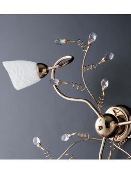 Plafoniera classica oro lucido con cristalli 3 luci LGT Emma oro