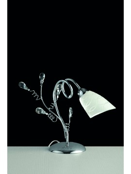 Modern table lamp with 1 light LGT Emma chrome crystals