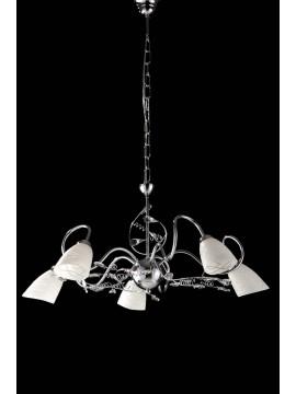 Modern chandelier with 5 lights LGT Emma chrome crystals