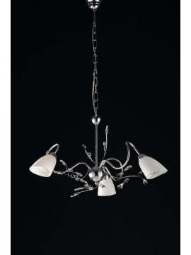 Modern chandelier with 3 lights LGT Emma chrome crystals