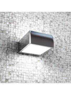 Applique 1 luce moderno cromato lucido con vetro tpl1053-ap