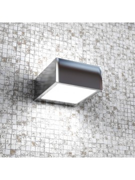Wall lamp 1 light modern polished chrome with tpl glass 1053-ap