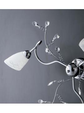 Modern ceiling light with 3 lights LGT Emma chrome